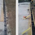 Réalisation des murets périphériques en béton armé